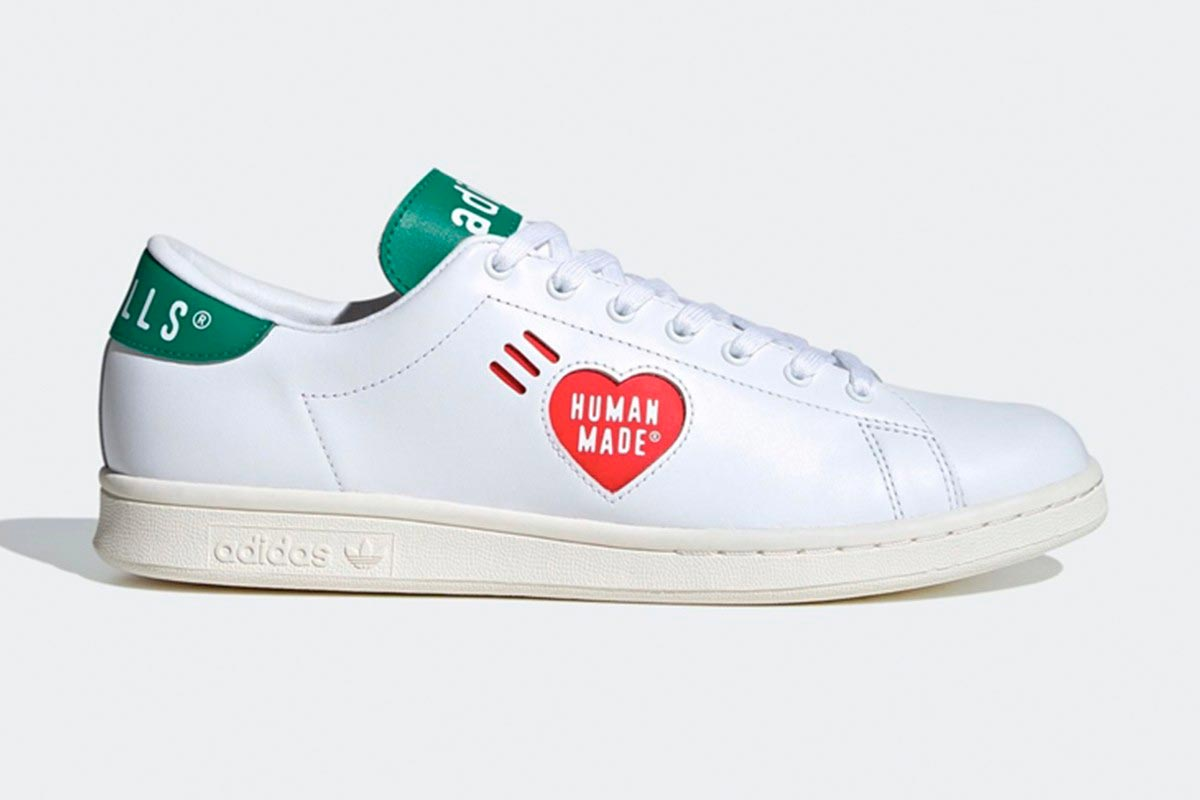 adidas Originals Stan Smith x Human Made 黑灰白三个配色联名鞋款插图