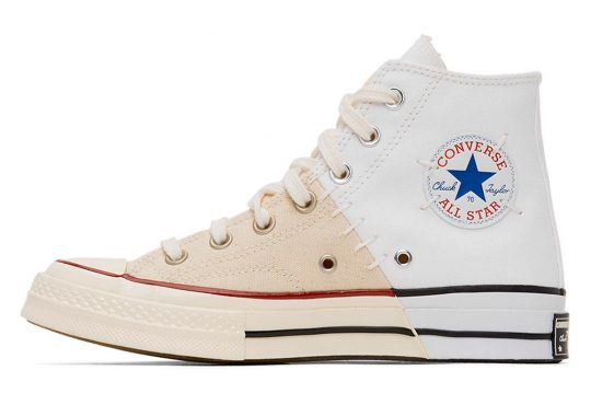 Converse 全新拼接设计鞋款 White & Off-White Reconstructed Chuck 70插图