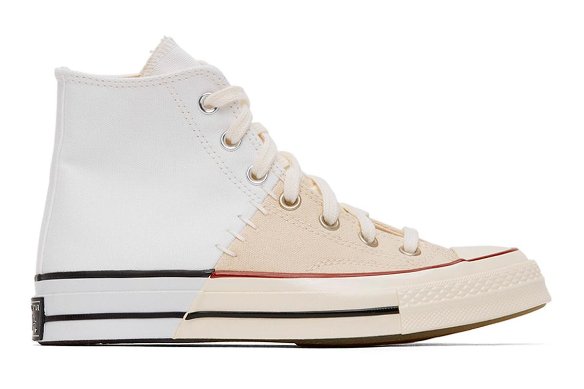 Converse 全新拼接设计鞋款 White & Off-White Reconstructed Chuck 70插图(1)