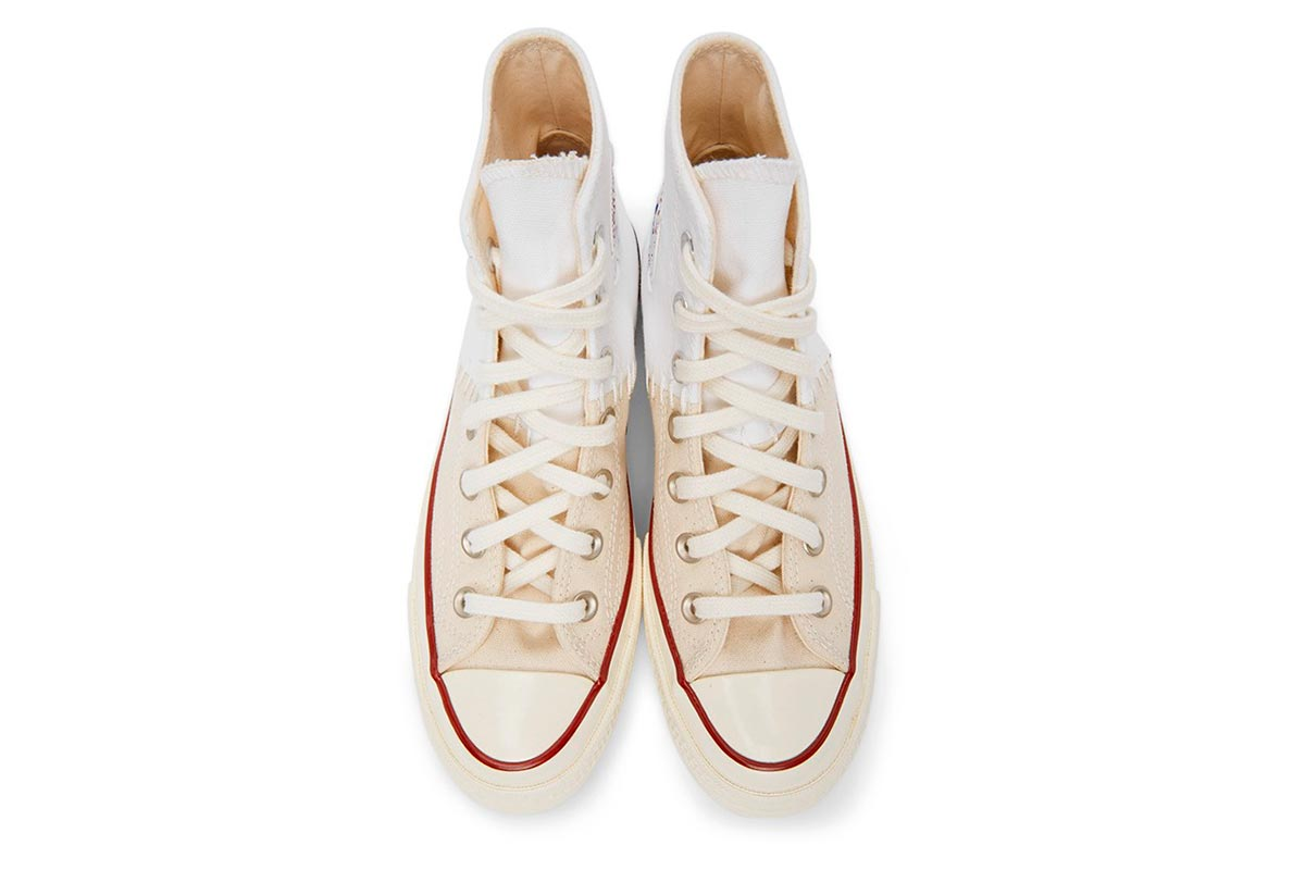 Converse 全新拼接设计鞋款 White & Off-White Reconstructed Chuck 70插图(4)