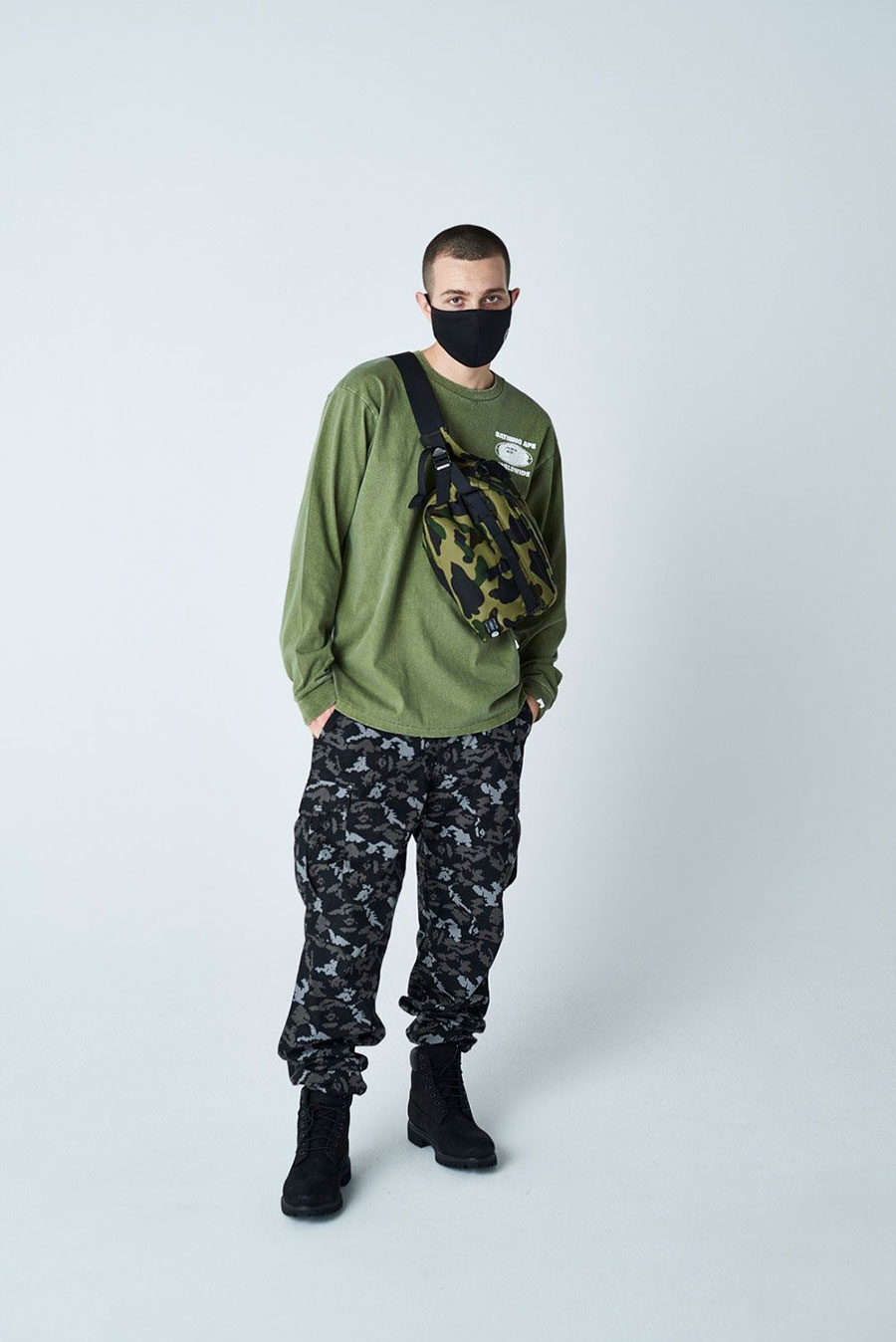 潮牌 A BATHING APE® 发布 2020 最新秋冬男装搭配造型 Lookbook插图(16)