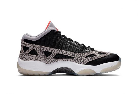Air Jordan 11 Low IE 全新 Black Cement 黑色纹理配色鞋款插图