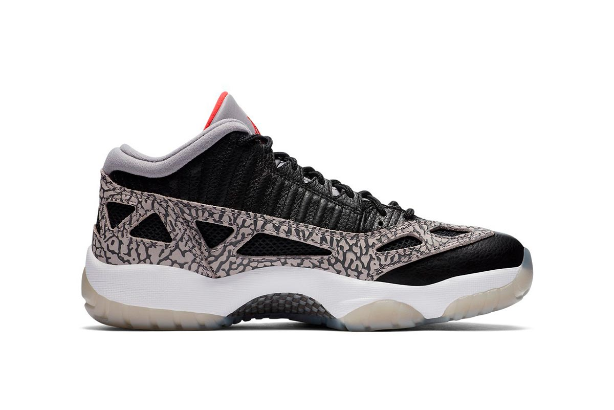 Air Jordan 11 Low IE 全新 Black Cement 黑色纹理配色鞋款插图(1)