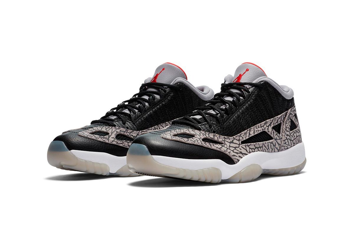 Air Jordan 11 Low IE 全新 Black Cement 黑色纹理配色鞋款插图(2)