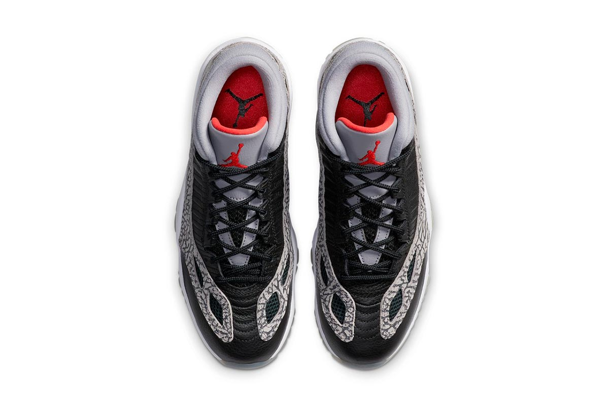 Air Jordan 11 Low IE 全新 Black Cement 黑色纹理配色鞋款插图(3)