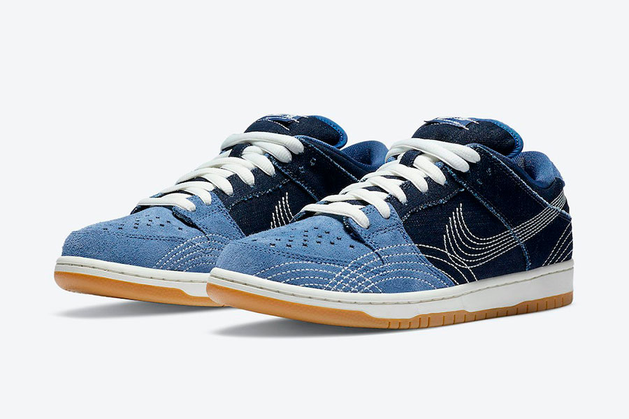 Nike Dunk SB Low  Denim Gum 配色鞋款 加入牛仔布面料元素插图(1)
