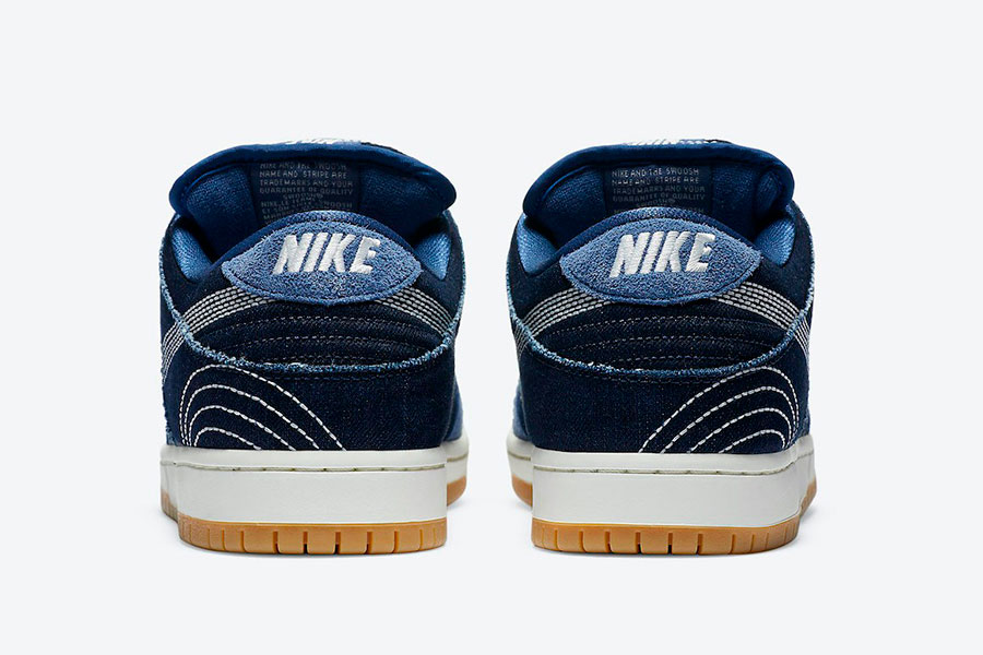 Nike Dunk SB Low  Denim Gum 配色鞋款 加入牛仔布面料元素插图(2)