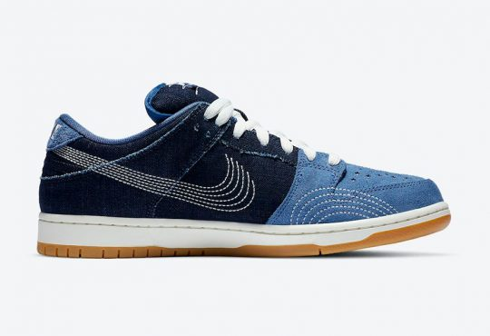Nike Dunk SB Low  Denim Gum 配色鞋款 加入牛仔布面料元素插图