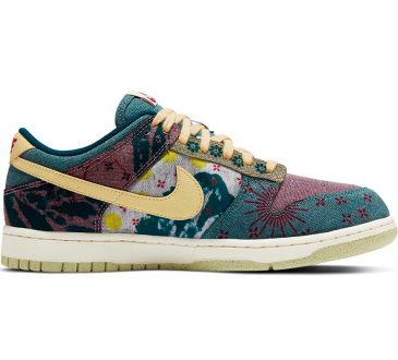 Nike Dunk Low 发布全新 Lemon Wash 配色帆布面料鞋款插图
