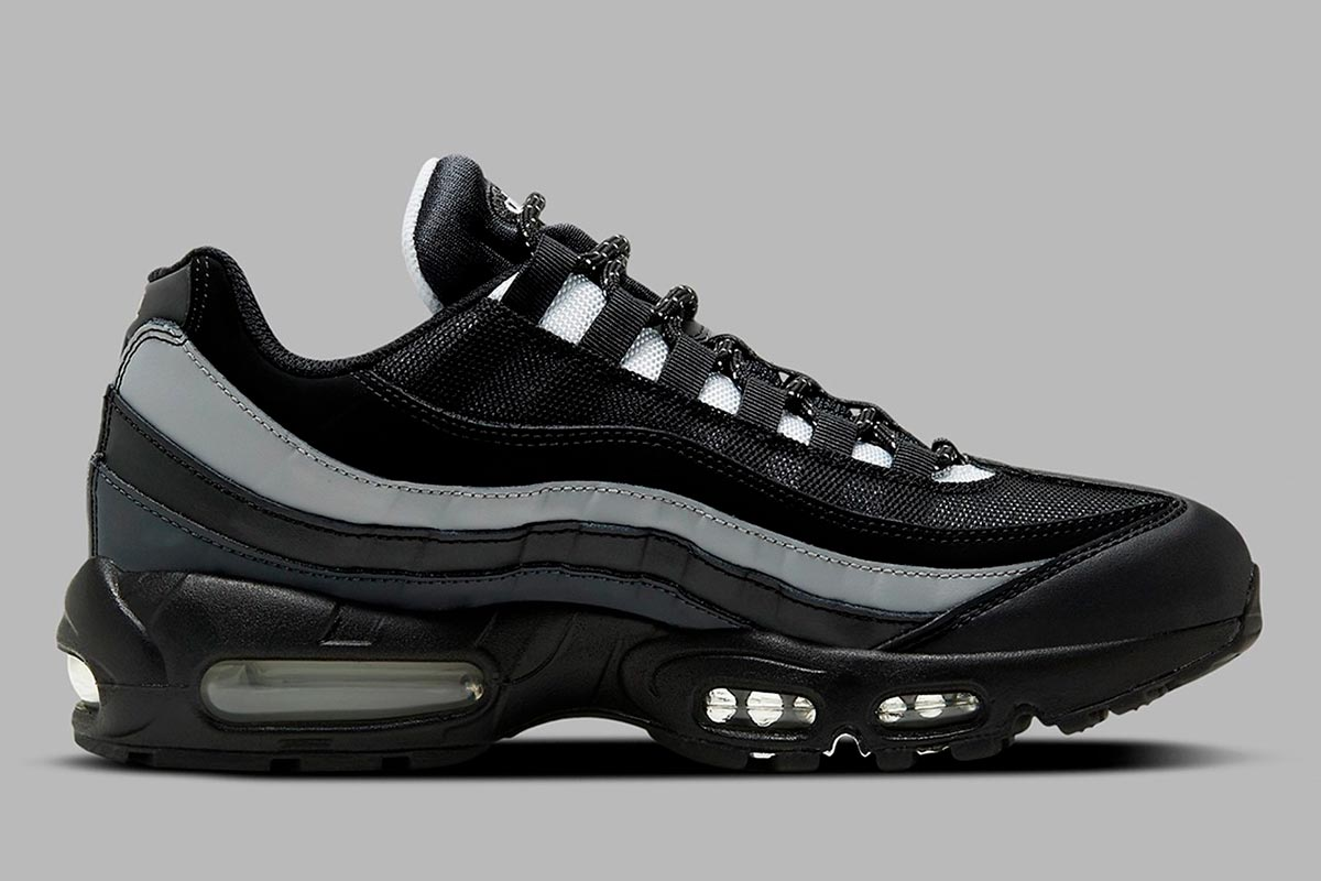 Nike Air Max 95 Essential 全新适合秋冬季「黑白灰」配色鞋款插图1