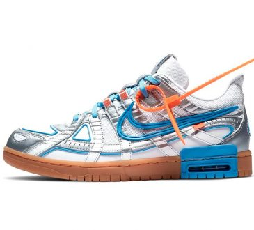 Off-White™ x Nike Air Rubber Dunk 「University Blue」配色联名鞋款插图
